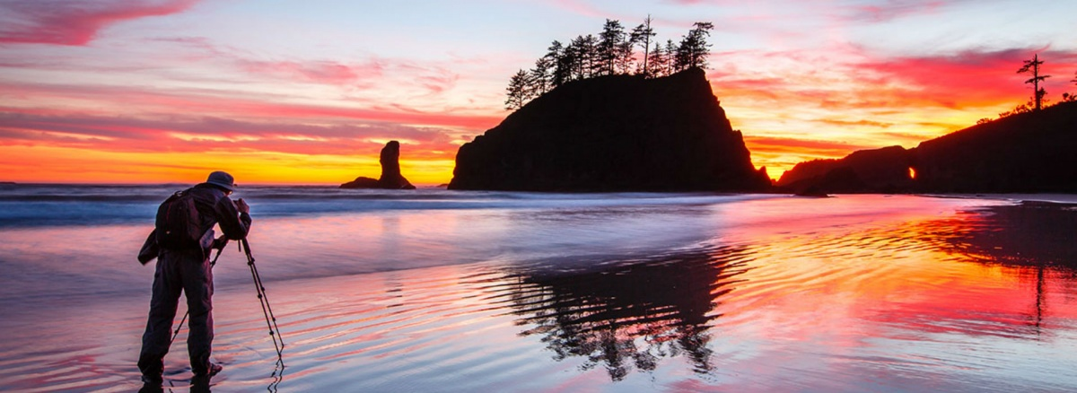 Sunset photography at Olympic National Park.