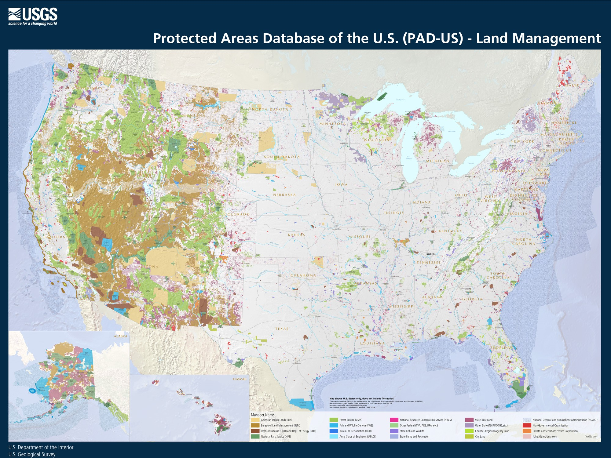 Americas Inventory Of Parks And Protected Areas Building And - Park and forest land us map