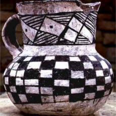 Mancos Black-on-White Pitcher, c 1000-1150 AD, Anasazi Heritage Center (Bureau of Land Management)