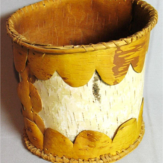 Birch Bark Basket, Flandreau Indian School (Bureau of Indian Affairs)