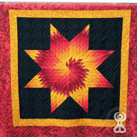Fire (Star Quilt), Chantelle Blue Arm, Sioux Indian Museum (Indian Arts and Crafts Board)