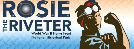 Poster for Rosie the Riveter World War II Home Front National Historic Park.