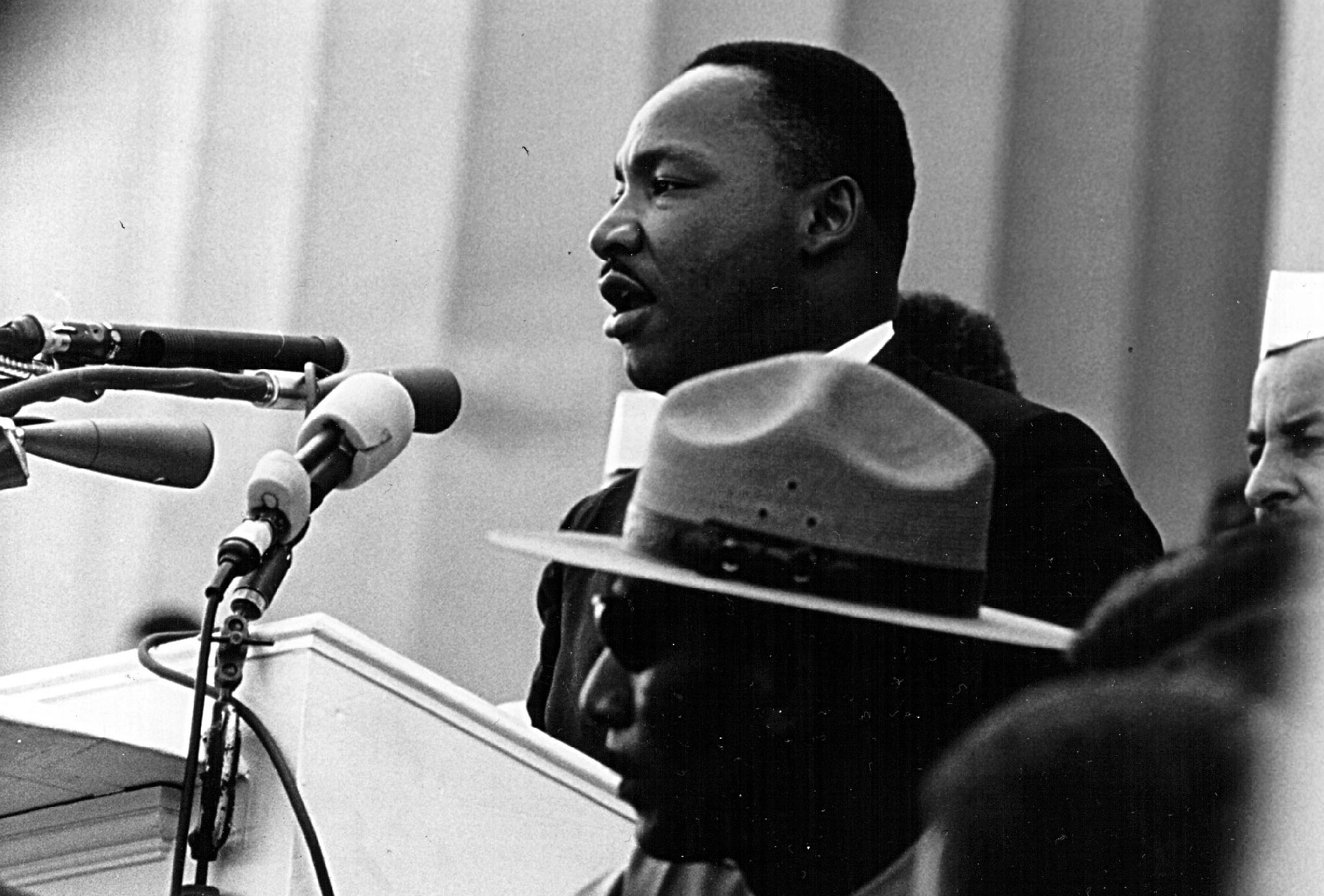 Dr. Martin Luther King Jr. Speaking On The Steps Of The Lincoln Memorial  During