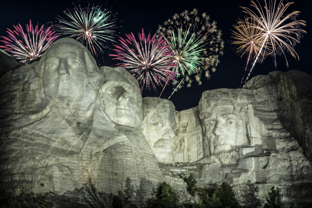 Image result for fireworks over mount rushmore