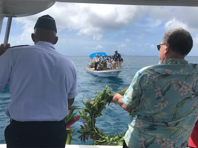 Gen. CQ Brown, Jr. and Assistant Secretary Domenech laid wreaths in Chuuk Lagoon to commemorate 75th anniversary of Operation Hailstone.