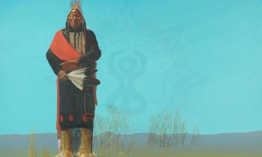 """""""A-HO,"""" by Mirac Creepingbear (Kiowa/Pawnee/Arapaho)"""