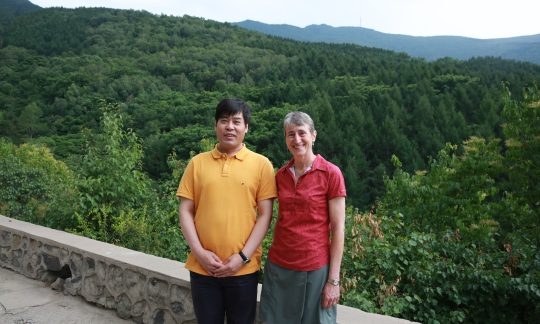 Secretary Jewell and Liu Dong in the Baihuashan National Nature Reserve