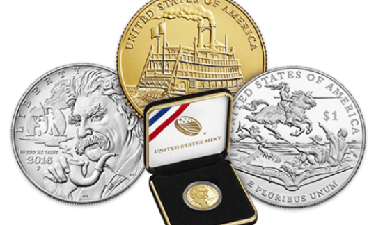 Examples of the gold and silver NPS commemorative coins