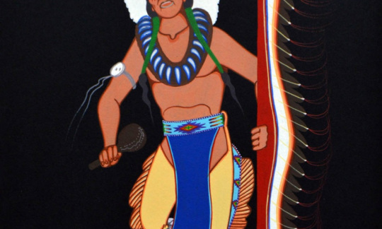 """""""Untitled,"""" Archie Blackowl, Cheyenne, IACB Collection"""