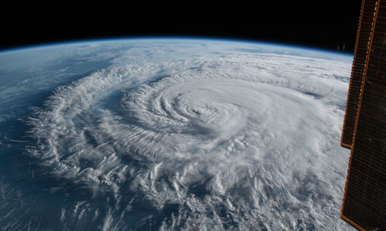 Hurricane Florence is pictured from the International Space Station.