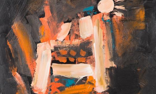 """""""Skin Painting,"""" Robert Penn, Sicangu Lakota and Omaha, IACB Collection"""