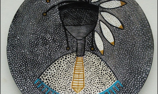 """Morose."" Acrylic paint on rolled paper © 2015 Melanie Ratzlaff"
