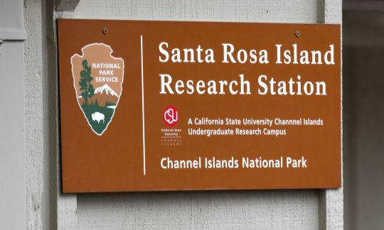 """Santa Rosa Island Research Station"" sign"