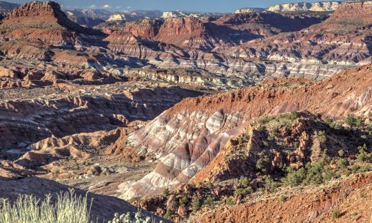 Red mesas in Utah