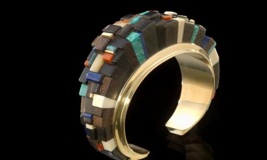 """Bracelet,"" Charles Loloma, Hopi, 1982"