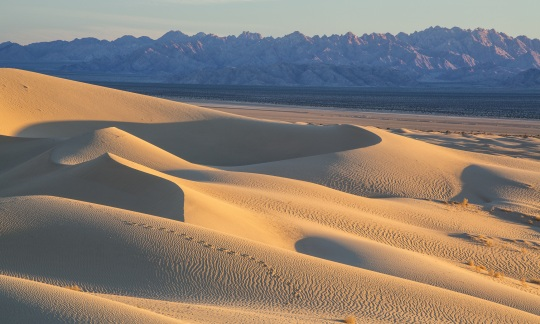 The gorgeous landscape of desert and mountains at Mojave Trails National Monument in California