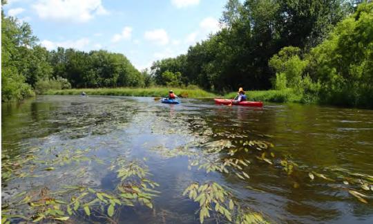 Kayakers on the Kalamazoo River