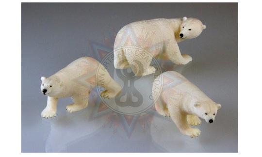 """Polar Bear Mother and Cubs,"" Ron Apangalook, St. Lawrence Island Yupik. Photograph Courtesy University of Alaska Museum of the North (UA 2015-19-15AC)"