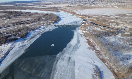 Overview of the Yellowstone River, Jan. 19, 2015
