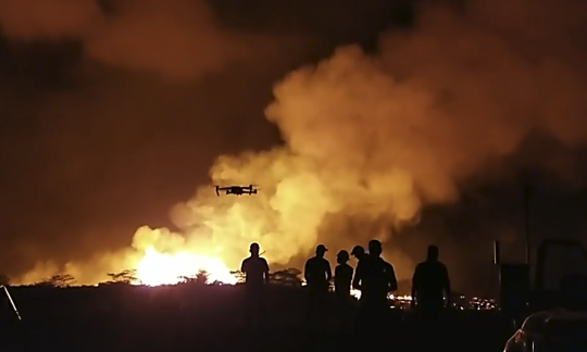 UAS being flown at the Kīlauea Volcano