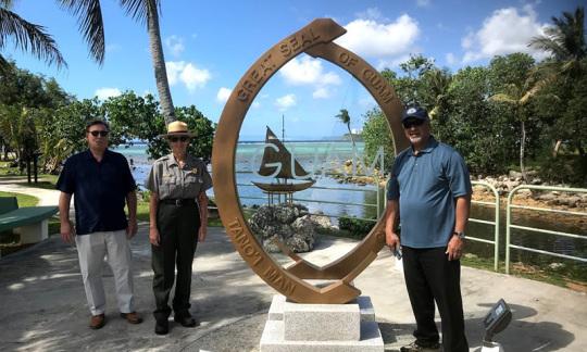 Doug Domenech at Great Seal of Guam