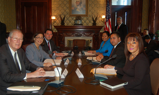 Special Representatives Discuss Immigration, Labor, and  Proposed Military Activities in CNMI at White House Meeting