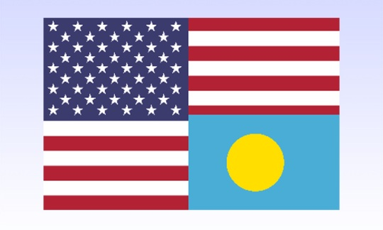 Flag of US and Palau