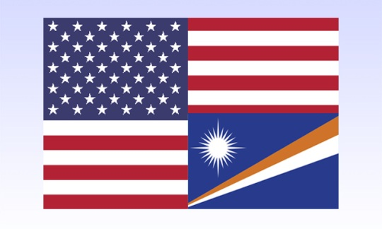 US and Marshall Islands Flags