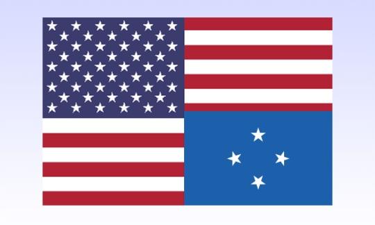 US and Micronesia Flag