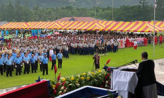 Assistant Secretary Domenech Visits American Samoa  Keynotes at 118th Flag Day