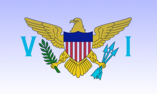 Official Flag of the USVI