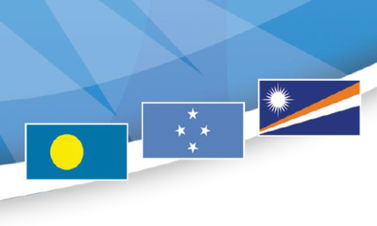 Flags of U.S. affiliated Pacific Islands in Micronesia
