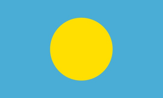 Official Flag of Palau