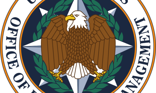 The circular logo of the Office of Personnel Management includes an eagle.
