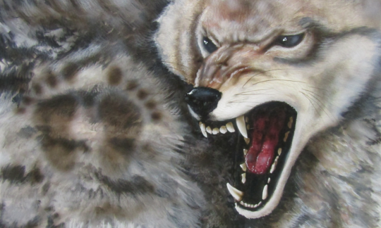 """Crazy Dog,"" Painting © 2006 Don Charbonneau (Blackfeet)"