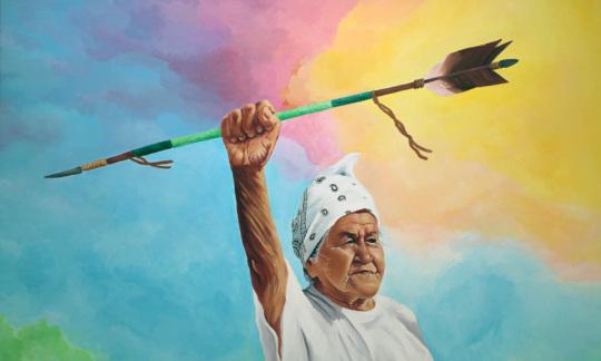 """Kokuum,"" Acrylic paint on canvas © 2018 Hillary Kempenich"