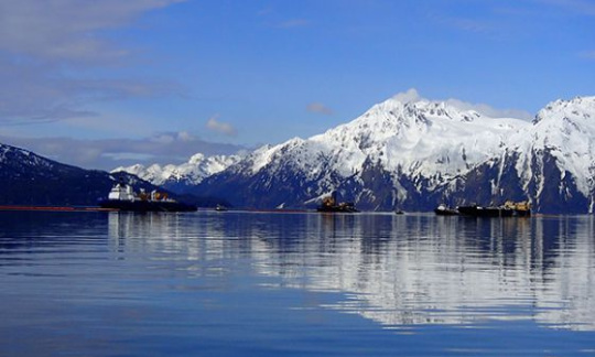 Ships operating off the Alaska coast
