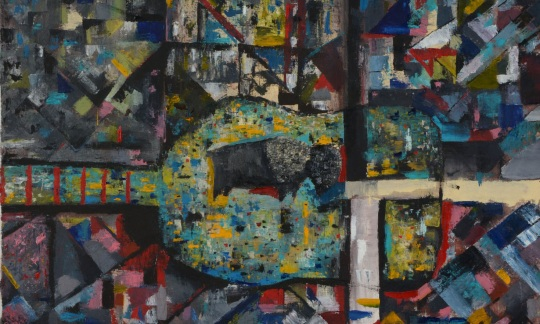 """Untitled 1,"" Oil on canvas © 2017 Tobias Monroe"