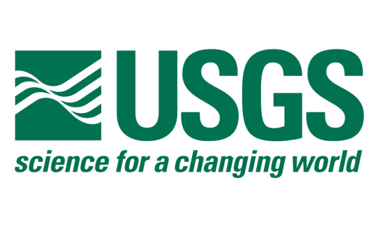 "USGS Logo in green letters and the tagline ""science for a changing world."""