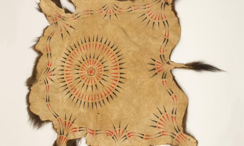 """""""Black Bonnet War Robe,"""" by Herman Red Elk (Yanktonai Sioux)"""