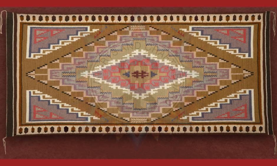 """Burntwater Rug,"" by Victoria Keoni (Navajo)"