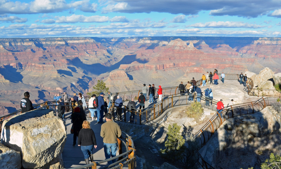This scenic overlook, Mather Point, was recently remodeled to make it more universally accessible.