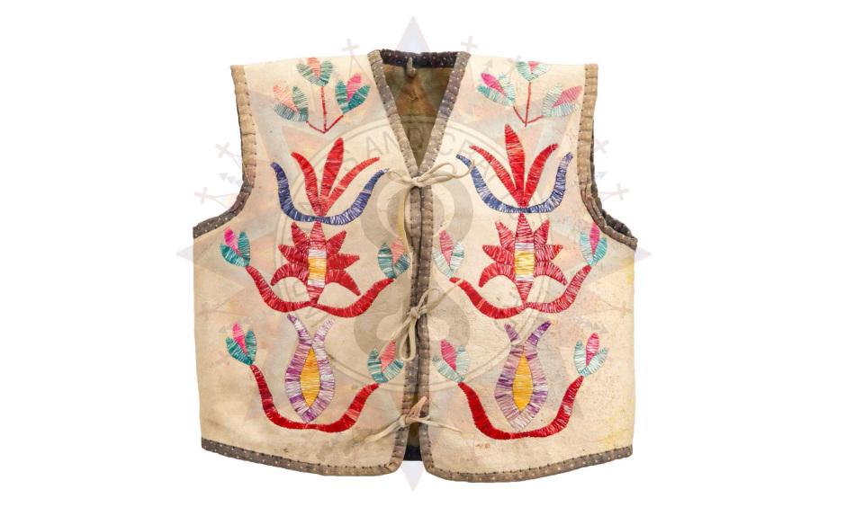 """Child's Vest, ca. 1900,"" artist unknown, Sicangu Lakota"