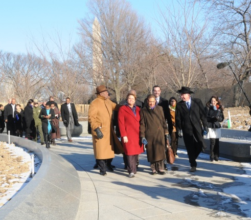 Secretary Salazar, Administrator Jackson, Mayor Gray and Congresswoman Norton to tour the Martin Luther King, Jr. National Memorial site.