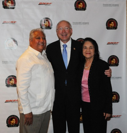 Secretary Salazar with Paul Chavez and Dolores Huerta.