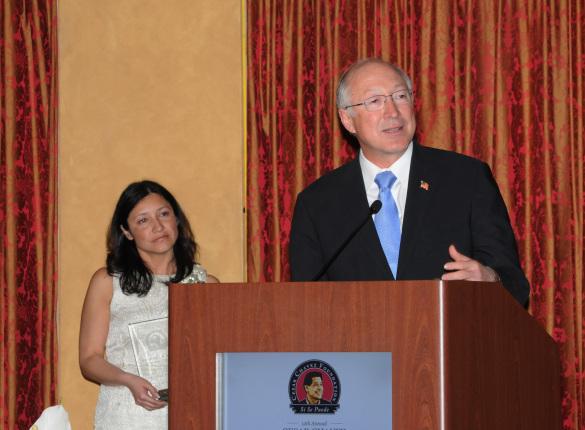 Secretary Salazar and White House Office of Public Engagement Julie Chávez Rodriguez
