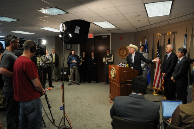 The Press Conference Was Held At US Attorneyaposs Office In Utah Behind