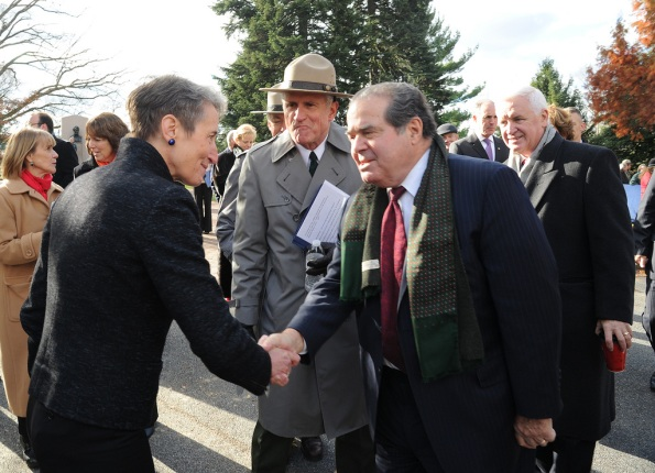 Secretary Jewell and US Supreme Court Justice Antonin Scalia
