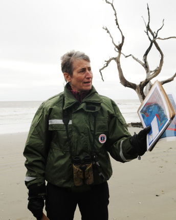 Secretary Jewell at Cape Romain