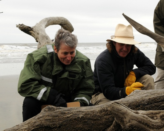 Secretary Jewell at Boneyard Beach